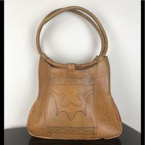 Western style leather handbag